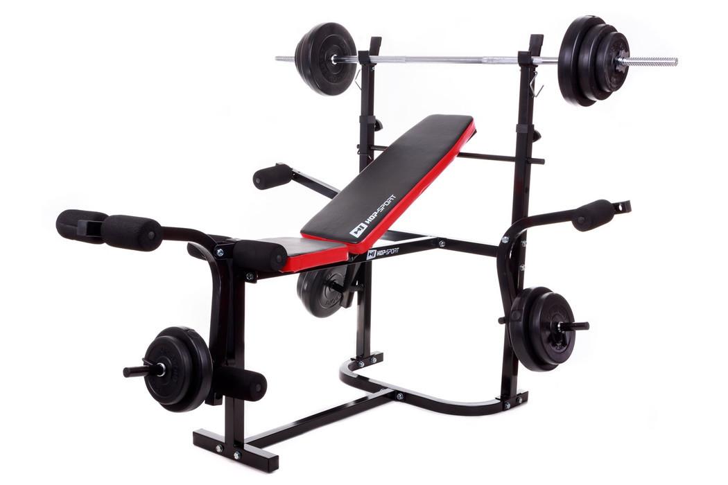 Набор Hop-Sport Premium 33 кг со скамьей HS-1020 + пульт(парта)