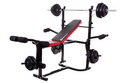 Набор Hop-Sport Premium 33 кг со скамьей HS-1020 + пульт(парта), фото 2