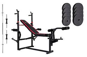 Набор Hop-Sport Premium 39,5 кг со скамьей HS-1070 , фото 2