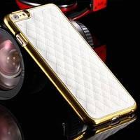 Чехол Люксори Luxury Белый с золотом для iPhone 6