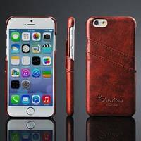 Кожаный чехол накладка Коричневый для iPhone 6