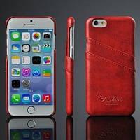 Кожаный чехол накладка Красный для iPhone 6
