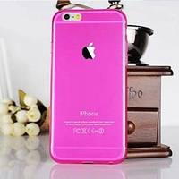 Силиконовый чехол ультратонкий 0.7мм Ярко розовый для IPhone 6 Plus