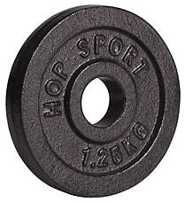 Набор Hop-Sport Strong 60 кг со скамьей HS-1055 , фото 3