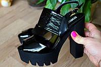 "Босоножки бренд ""Lino Morano"" черные на каблуке"