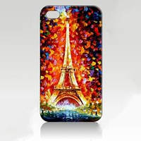Чехол ультратонкий пластиковый эксклюзив Праздничный Париж для IPhone 4/4s