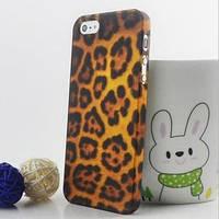 Пластиковый чехол Leopard Леопард прозрачный матовый для IPhone 4/4s