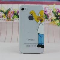 Пластиковый чехол Гомер держит яблоко для IPhone 4/4s