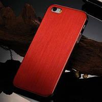 Металлический чехол ультратонкий 0.3мм Красный Red для IPhone 5/5s