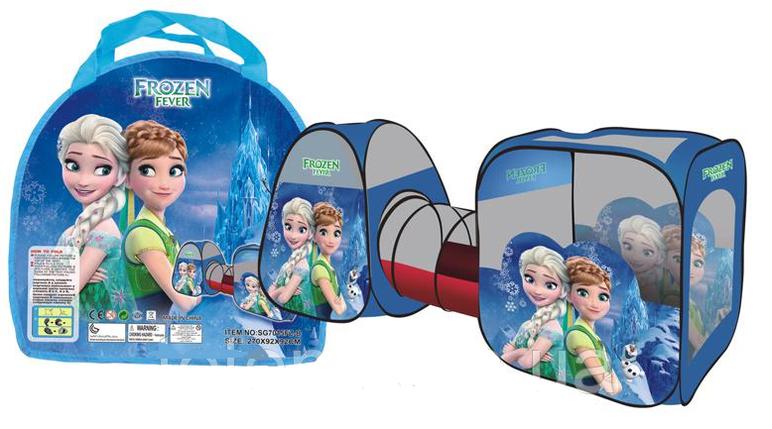 """Детская игровая палатка с тоннелем """"3 в 1"""" М 3312 (SG7015 FZ-B), Холодное сердце, фото 2"""