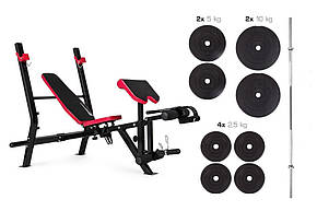 Набор Hop-Sport Premium штанга 48 кг со скамьей HS-1090 , фото 2