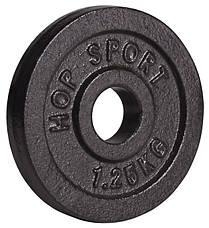 Набор Hop-Sport Strong штанга и гантели 83 кг со скамьей HS-1055 , фото 3
