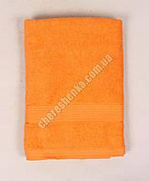 Махровое полотенце банное YZ1807 (140*70) Оранжевый