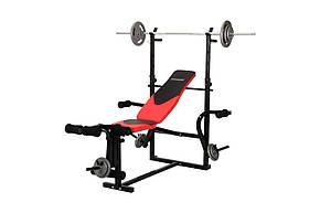 Набор Hop-Sport Strong 83 кг со скамьей HS-1070 , фото 2