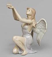 Статуэтка фарфоровая Ангел с кристаллом Светлой Любви