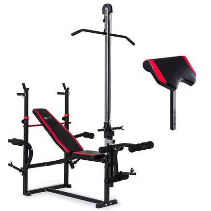 Набор Hop-Sport Strong 169 кг со скамьей HS-1070 с тягой и партой , фото 2