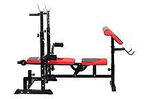 Скамья тренировочная Hop-Sport HS-1075 с партой скотта , фото 3