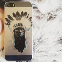 Силиконовый чехол Sweet Индеец для IPhone 5/5s
