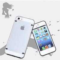 Пластиковый чехол Glow in the Dark Luminous Black Черный для IPhone 4/4s