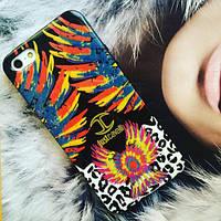 Силиконовый чехол Just Cavalli Cover Birds Blue для IPhone 5/5s