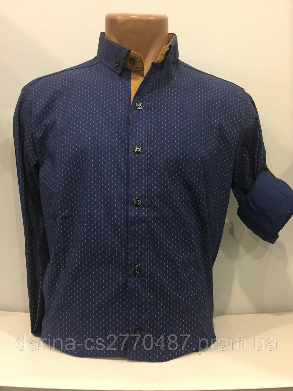 Мужская рубашка на трех кнопках XL
