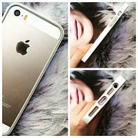 Бампер ультратонкий TPU Белый для IPhone 5/5s