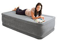 Надувная кровать Intex 64412 со встроенным электронасосом 220V, 99х191х46 см
