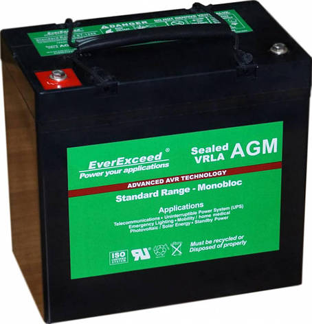 Аккумулятор EverExceed ST-1265 (12В, 72Ач), фото 2
