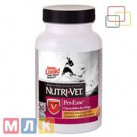 Nutri-Vet Pet Ease Успокаивающее средство для собак, жевательные таблетки, 60 табл.