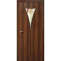 Межкомнатные двери Омис Рюмка-2 ПВХ СС+ФП (орех)