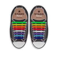 Косые cиликоновые АнтиШнурки для кроссовок и кед, 16шт. (длина: 38-68мм), фото 1