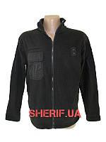 Куртка черная микрофлисовая Black 10890