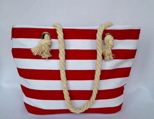 Пляжная текстильная сумка для детей и подростков в полоску