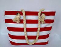Пляжная текстильная сумка для детей и подростков в полоску, фото 1