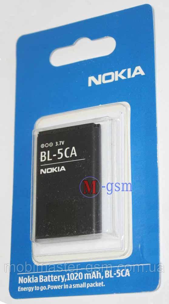 Аккумулятор Nokia BL-5CA для Nokia 1110, 1110i, 1112, 1200, 1208, 1209, 1680, X2-00 (1020мА\ч) ААА класс
