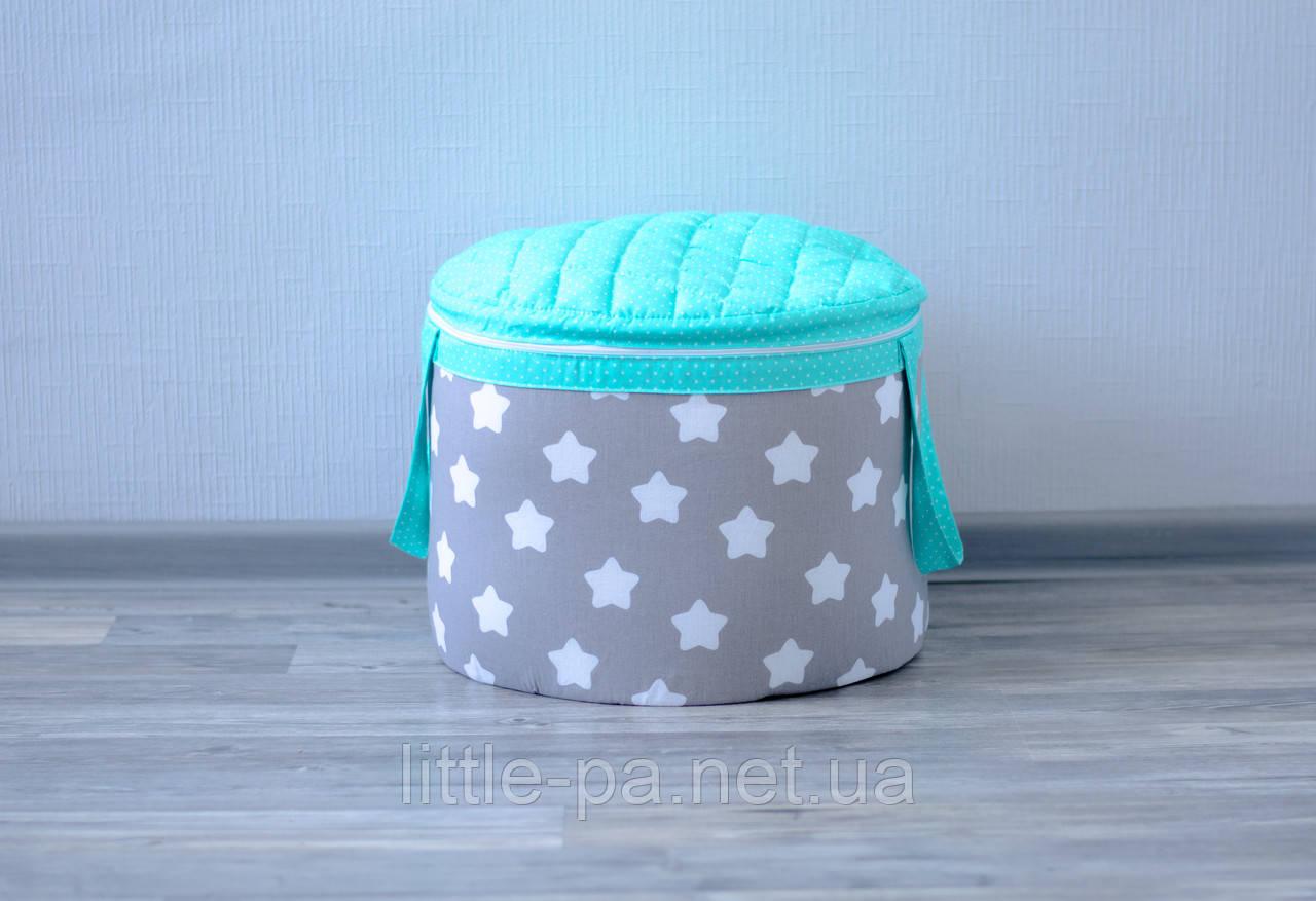 Сундучок для хранения детских игрушек «Звёзды с мятой»