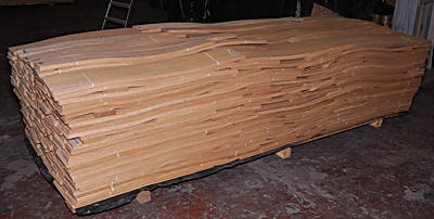 Шпон сторанный на подложку 0,55-0,60 мм разные породы 2,10 м +/8 см +