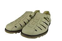 Мужские сандали  мужские из натуральной кожи mida 13959мол молочные   летние