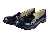 Женские женские туфли кожаные головин f12.5.63 синие   весенние