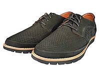 Мужские туфли  мужские из натуральной кожи mida 13287нуб.ч черные   летние , фото 1