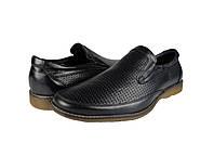 Мужские туфли  мужские из натуральной кожи mida 13381ч черные   летние , фото 1