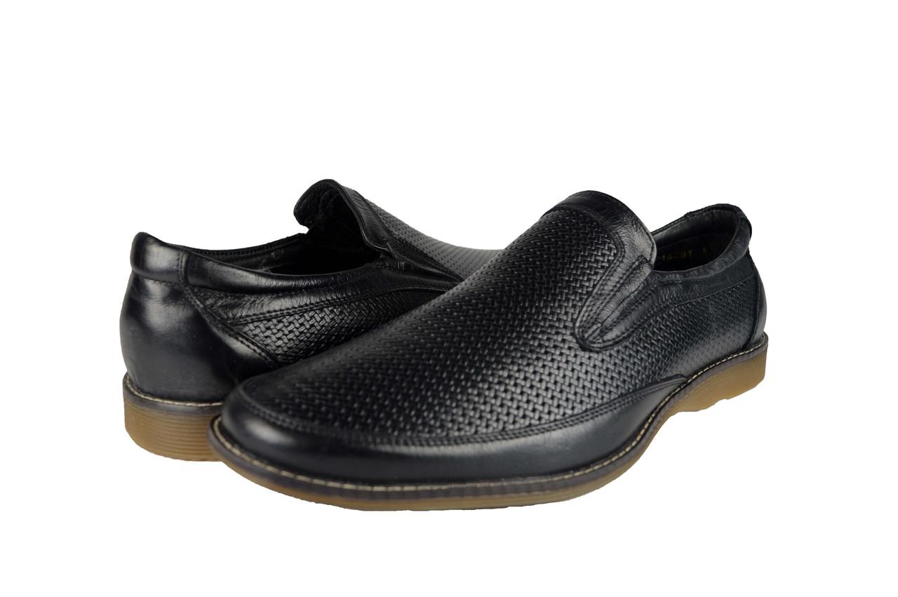 Мужские туфли мужские из натуральной кожи mida 13381ч черные летние -  Магазин обуви
