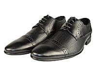 Мужские туфли  мужские из натуральной кожи mida 13074ч черные   летние , фото 1