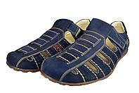 Мужские сандали  мужские из натуральной кожи mida 13045нуб.син синие   летние