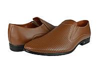 Мужские туфли  мужские из натуральной кожи mida 13270орех коричневые   летние , фото 1