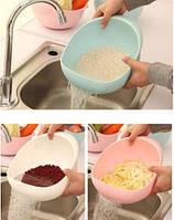 Миска 2-в-1 для фруктов, овощей, риса