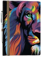 Блокнот на резинке Rainbow Лев, фото 1