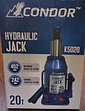 """Домкрат гідравлічний 20 т. """"CONDOR"""" (в картон. уп.) 242 - 452 мм, K5020, фото 4"""