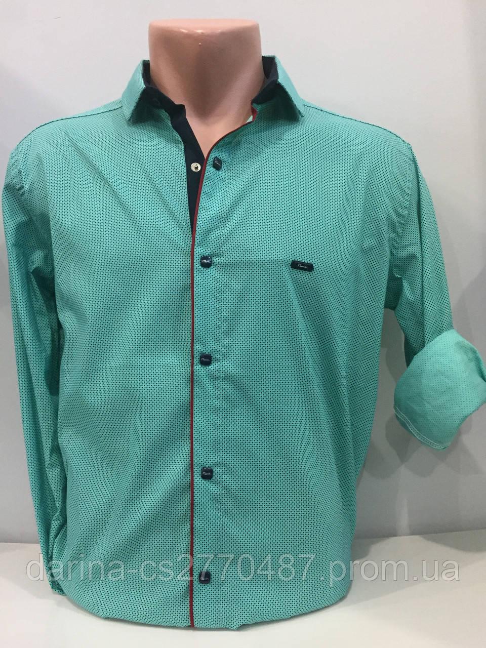 Мужская рубашка на кнопках M,L