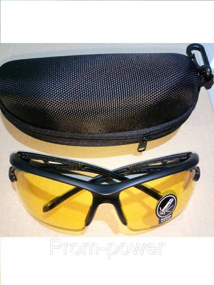 Очки спортивные желтые тактические антифары велосипедные спортивные велоочки  + Чехол 86bbbc4e3749d